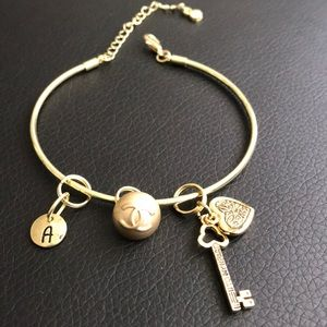 Personalized  Authentic CHANEL button bangle